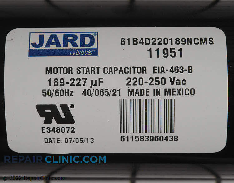Start Capacitor 11951 Alternate Product View ...