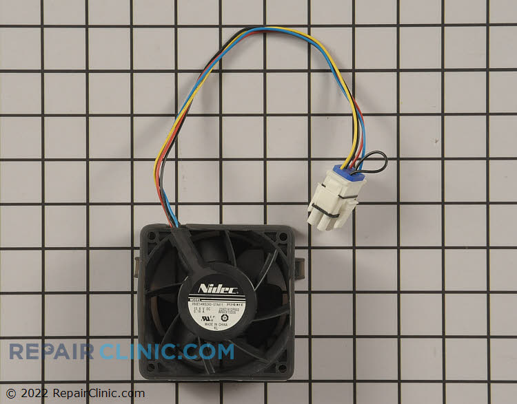 Evaporator fan motor<br><br>*If the refrigerator was made between (May 2014 - Mar 2015) with the serial range FF - HD see required item.