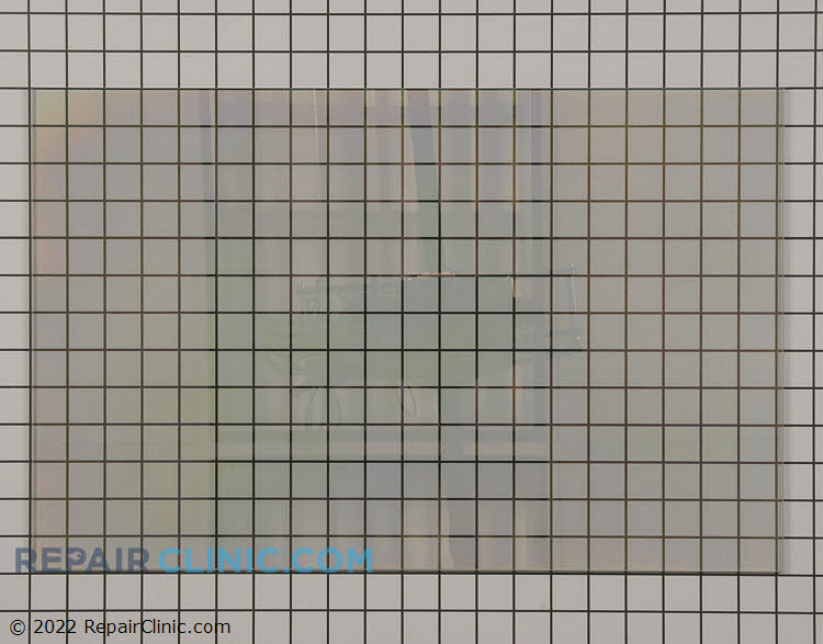 Oven door glass<br> This is a glass heat barrier that is used as the middle or inner door glass depending on your model.