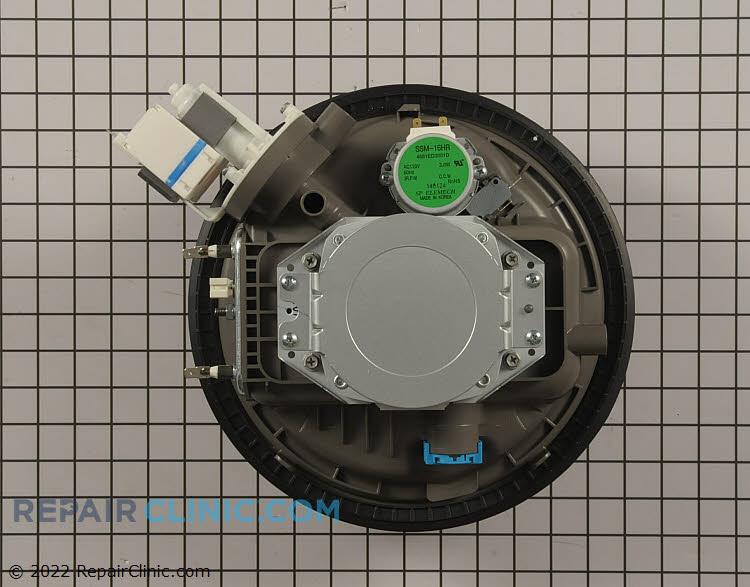 Circulation and drain pump and motor assembly