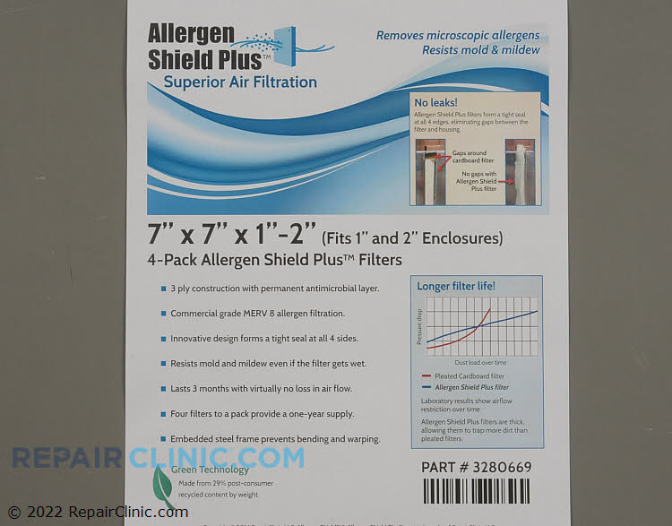 Air Filter PF3P070701AT-4  Alternate Product View
