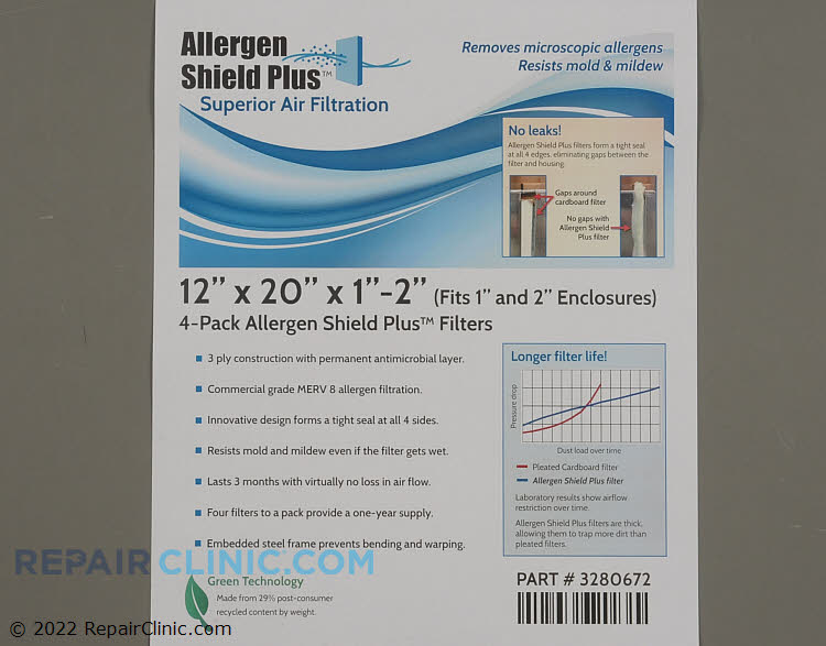 Air Filter PF3P122001AT-4  Alternate Product View