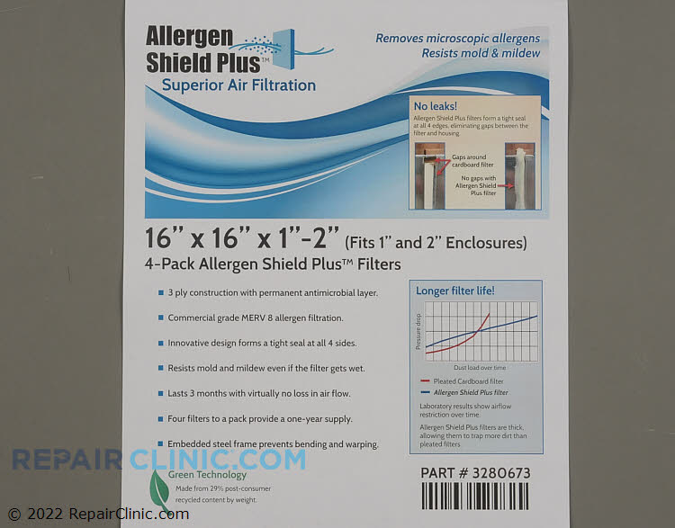 Air Filter PF3P161601AT-4  Alternate Product View