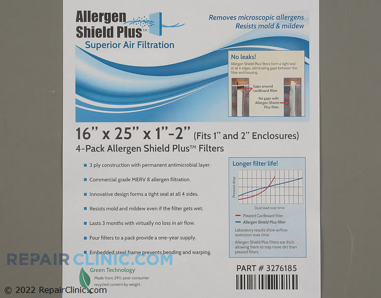Air Filter PF3P162501AT-4  Alternate Product View