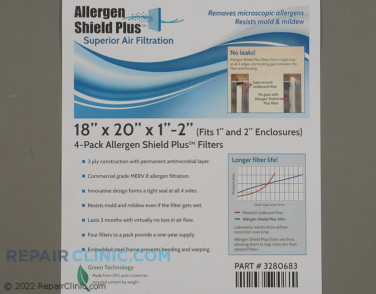 Air Filter PF3P182001AT-4  Alternate Product View