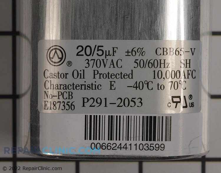 Dual Run Capacitor P291-2053 Alternate Product View