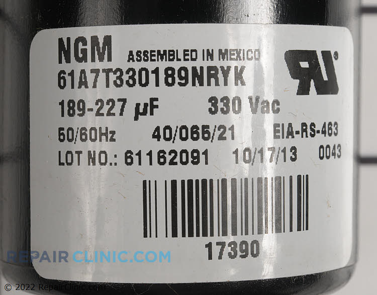 Start Capacitor S1-02425215700 Alternate Product View