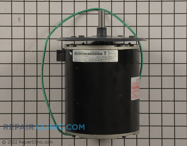 """1/3 HP 460Volts 60Hertz 1.26Amps 850RPM Single Speed Closed Enclosure 48Y Frame Single Phase CW Rotation 1.33"""" Shaft"""