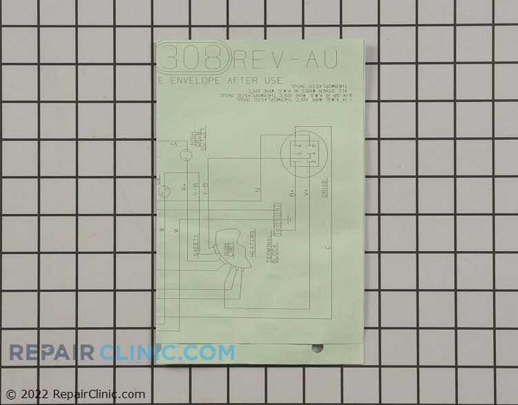 dryer wiring diagram 31 2476 fast shipping. Black Bedroom Furniture Sets. Home Design Ideas