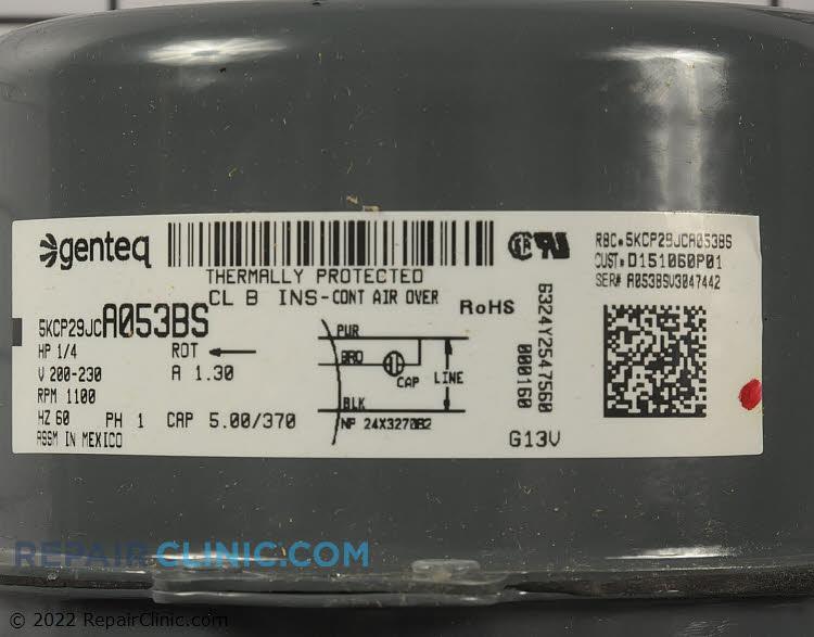 Condenser Fan Motor MOT08895 Alternate Product View