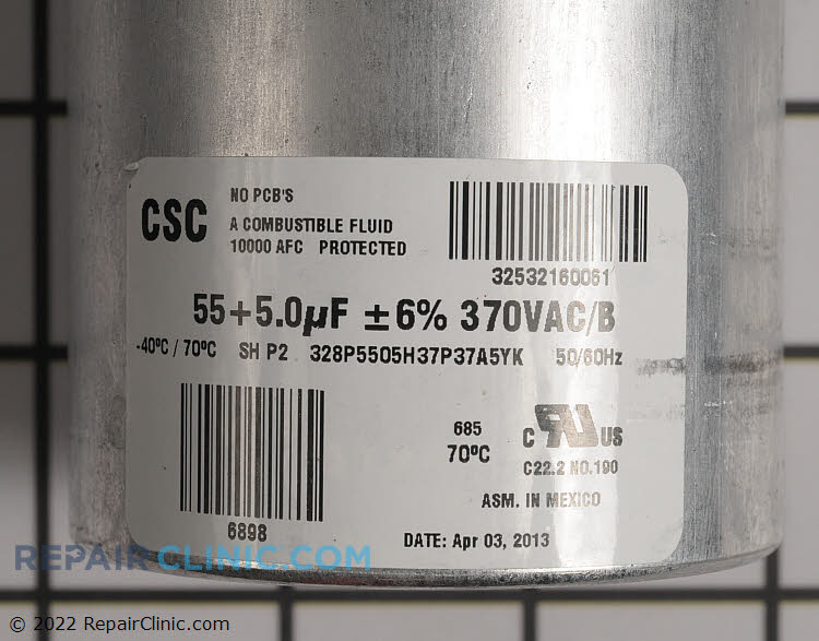 Dual Run Capacitor S1-02425049700 Alternate Product View