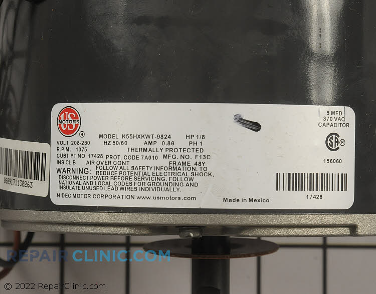 Condenser Fan Motor S1-02427551700 Alternate Product View