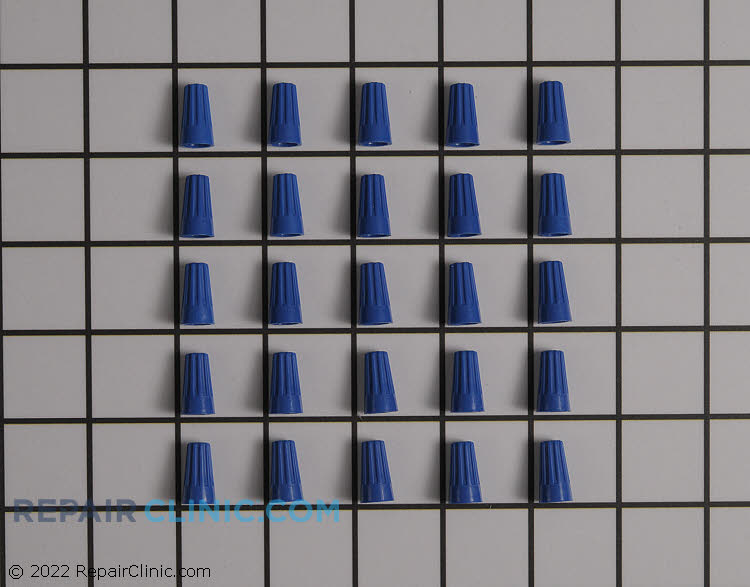Tiny blue standard wire connectors, pack of 25