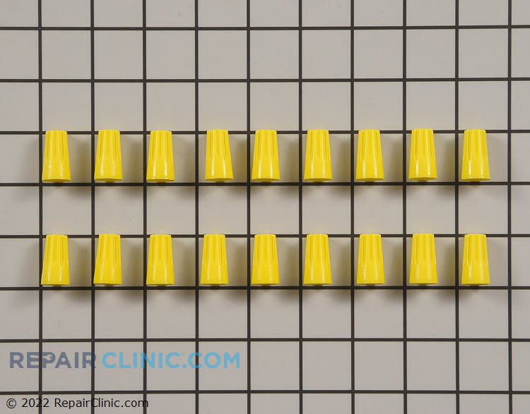 Medium yellow standard wire connectors, pack of 18