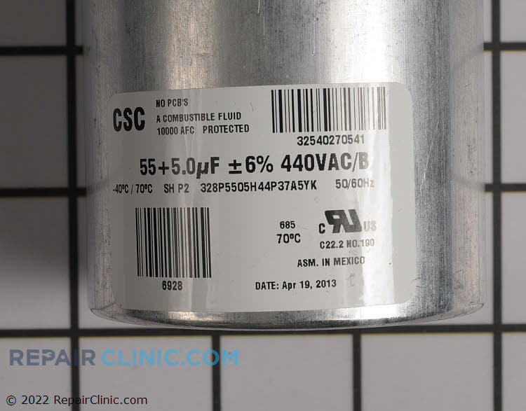 Dual Run Capacitor S1-02425511700 Alternate Product View