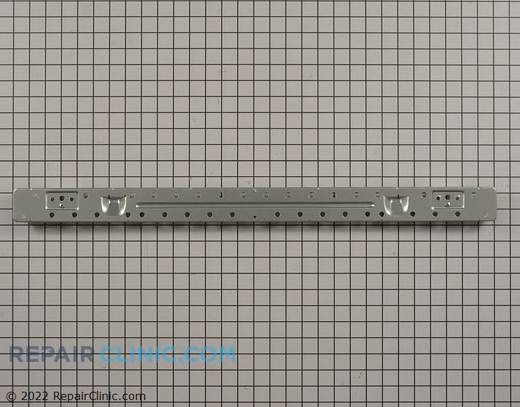 Microwave mounting plate. This mounting plate is used to secure the microwave to the wall above the range. Screws separate.