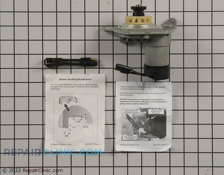 Replacement electric starter *manufacture has changed the part from the original version