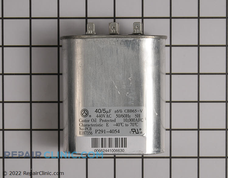 Dual, Oval, 440 Volt, 40/5 Microfarads