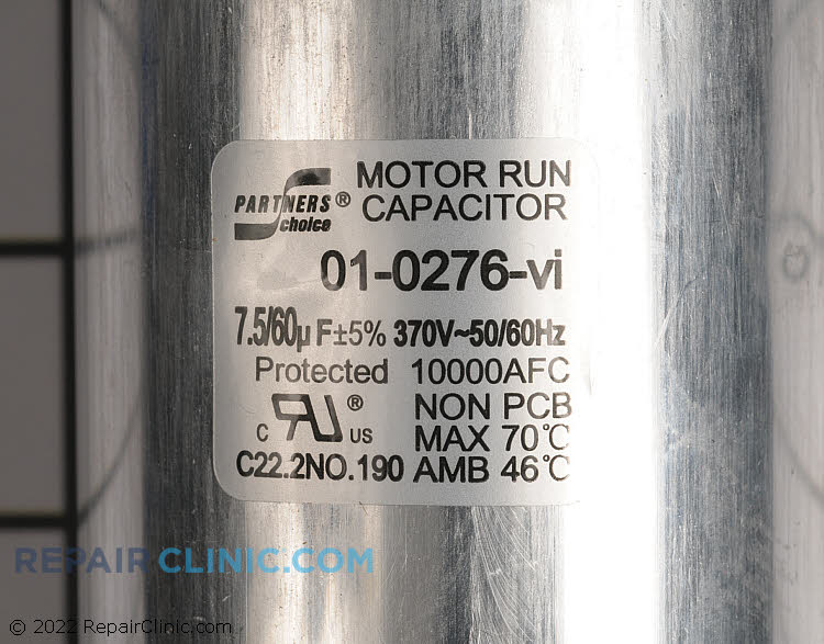 Dual Run Capacitor 01-0276 Alternate Product View