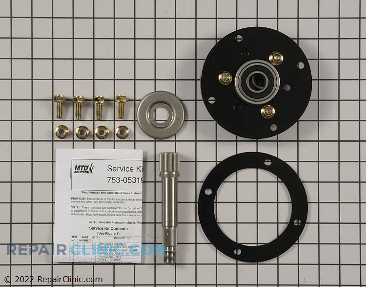 Spindle Assembly 753-05319 Alternate Product View