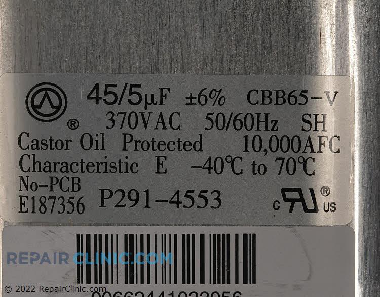 Dual Run Capacitor P291-4553 Alternate Product View