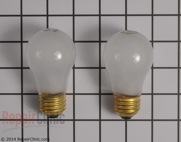 Appliance light bulbs (2 pack).  <br><br> -40 Watts <br> -Frosted