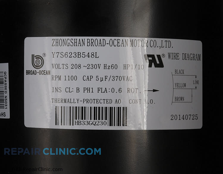 Blower Motor HB33GQ230       Alternate Product View