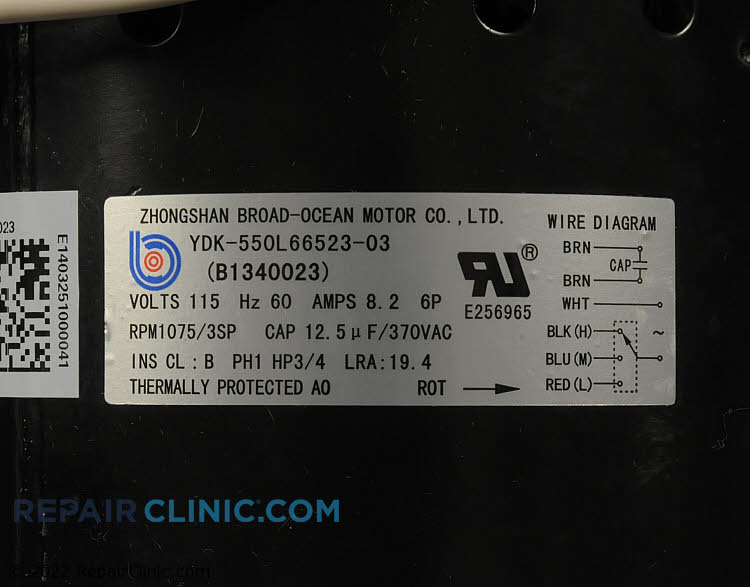 Blower Motor B1340023SP Alternate Product View
