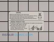 Label - Part # 1258311 Mfg Part # WD-4050-43