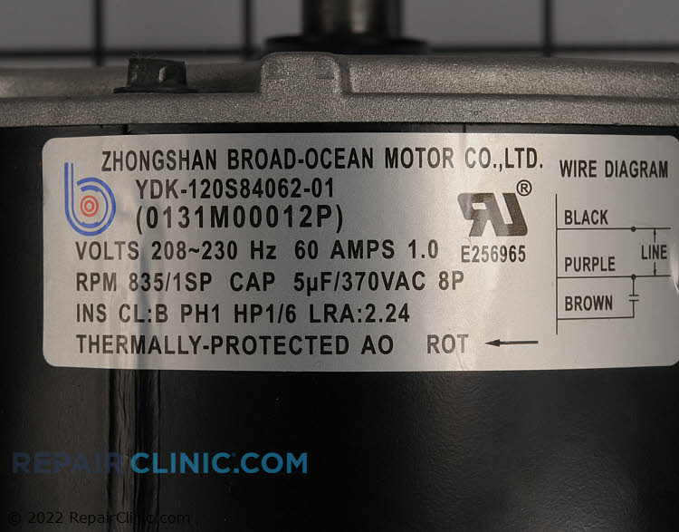 Condenser Fan Motor 0131M00012PSP Alternate Product View