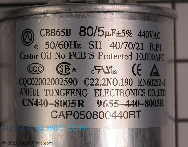 Dual Run Capacitor CAP050800440RTP Alternate Product View