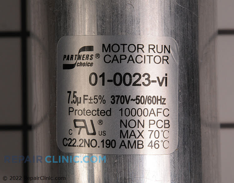 Run Capacitor 01-0023 Alternate Product View