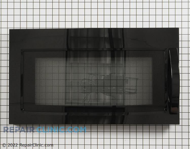 Black Microwave Door