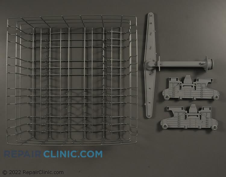 Upper rack adjustment bracket, right