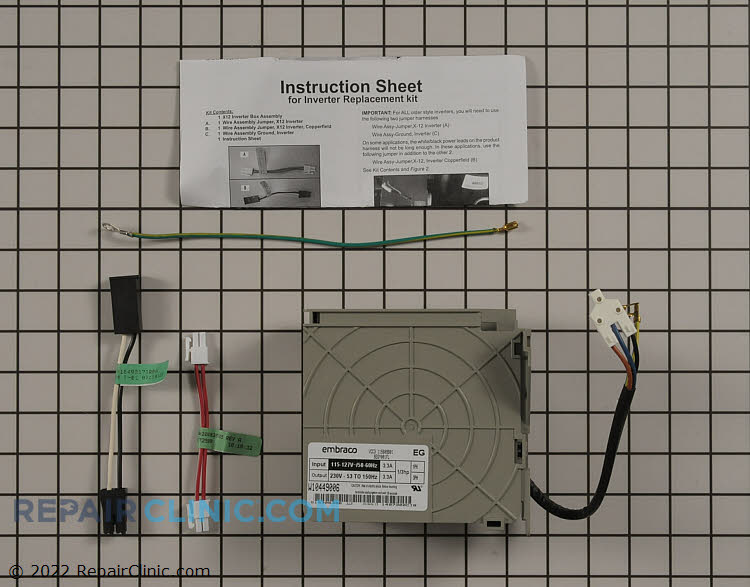 Inverter control kit for compressor W10629033