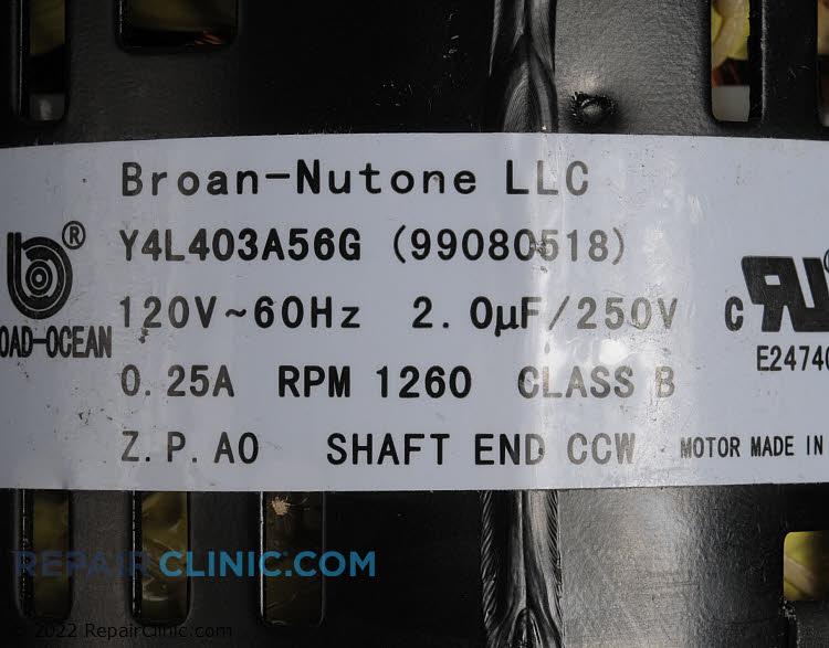 Fan Motor S99080518       Alternate Product View