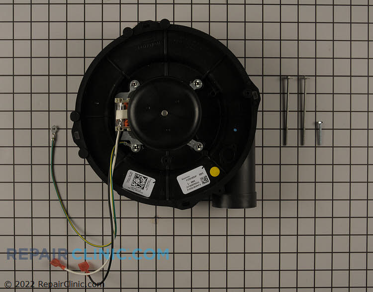 Draft inducer motor replacement. If mounted horizontally, related items are needed for replacement motor.