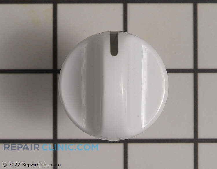 Control knob for rotary control panel switches, white.