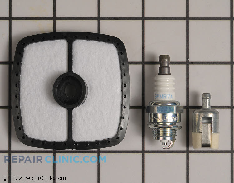 Genuine ECHO 90157 Repower Kit Contains<br><br>1 Air Filter (A226001410)<br>1 Fuel Filter (13120519832)<br>1 Spark Plug (BPM7Y)