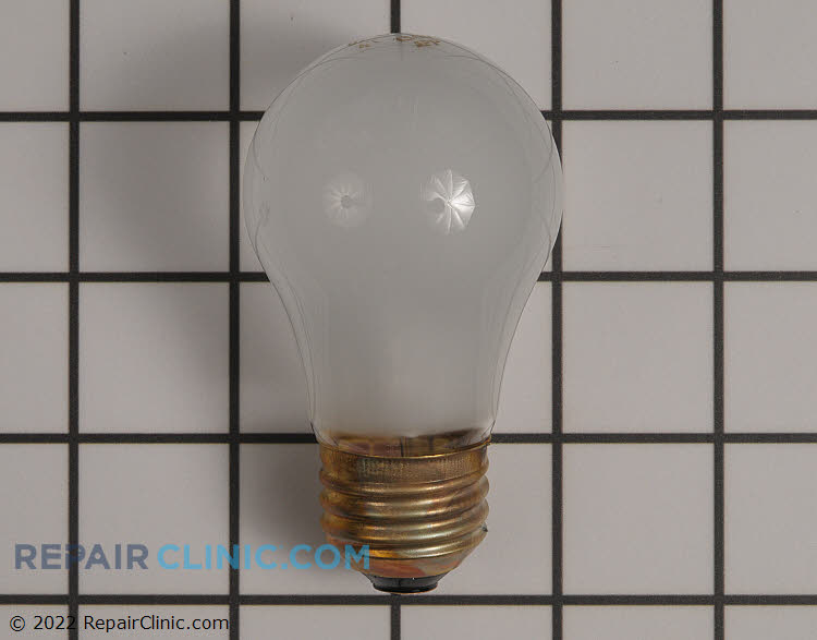 40 Watt frosted appliance light bulb.