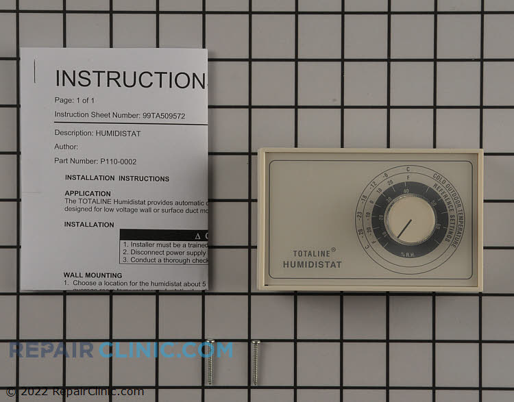 Universal 24V Wall or Duct Mount Dust Proof Switch, Adjustable from 0 to 60% RH