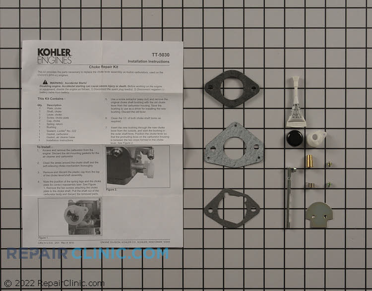 Choke Rebuild Kit 24 757 36-S Alternate Product View