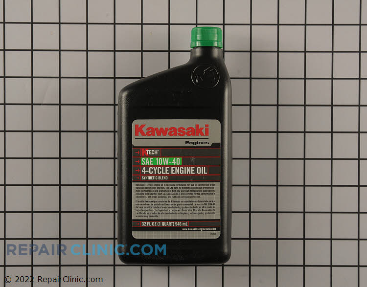 Kawasaki 10W-40 4-Cycle Engine Oil. Kawasaki KTECH 4-cycle oil is enhanced with Anti-Foaming and Anti-Sheer agents, along with other additives.