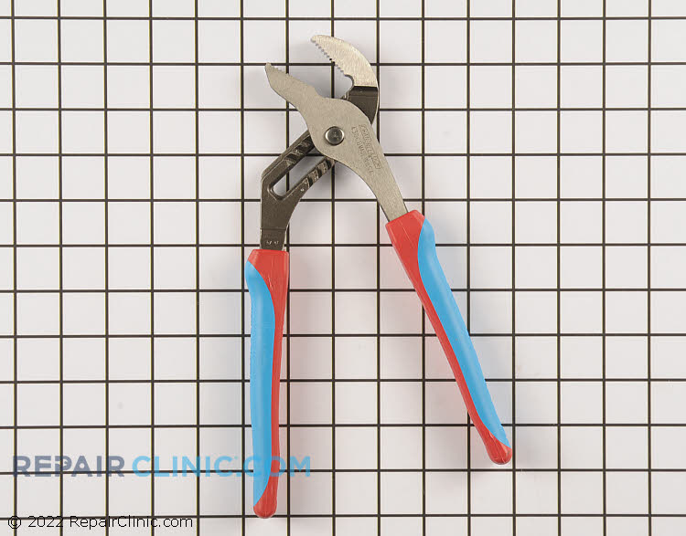 10 inch Straight Jaw Tongue & Groove Plier. Features an undercut tongue and groove to prevent slippage and laser heat-treated teeth for exceptional strength. Code Blue® handles provide a comfortable, reliable grip.