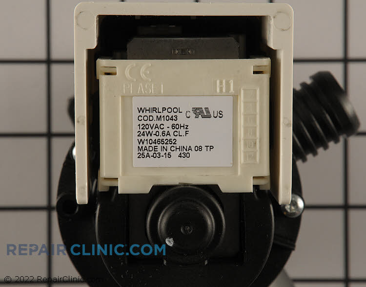 Drain Pump WPW10465252 Alternate Product View