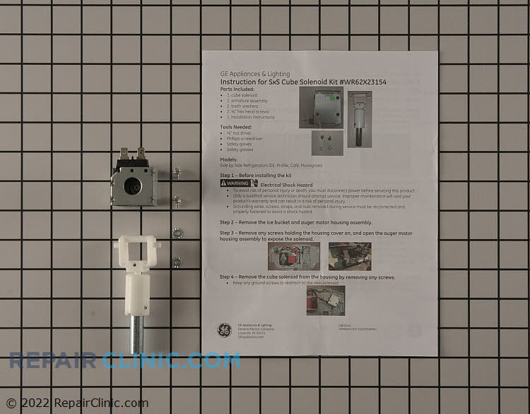 Crushed/Cubed Ice Solenoid WR62X23154      Alternate Product View