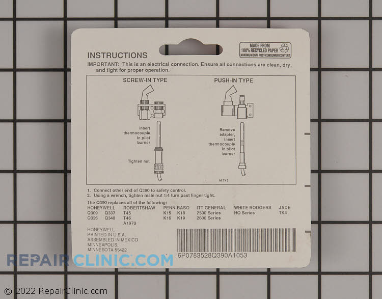 Thermocouple Q390A1053 Alternate Product View