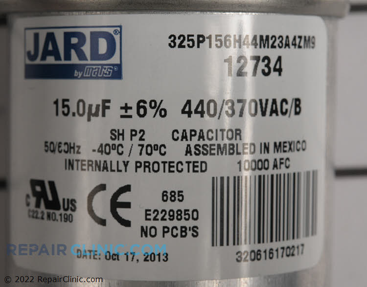 Run Capacitor CPT00453 Alternate Product View