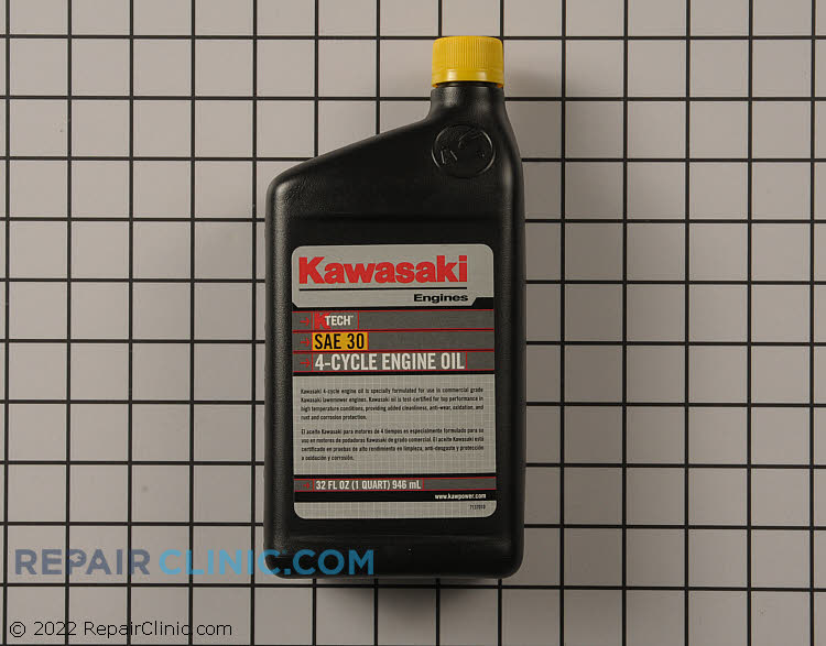 Kawasaki Original Equipment 4 Cycle Engine Oil SAE 30.  32 oz.(1 Quart) Kawasaki KTECH 4-cycle oil is enhanced with Anti-Foaming and Anti-Sheer agents, along with other additives.