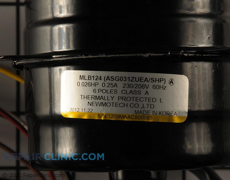 Fan Motor WP94X10162      Alternate Product View